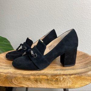 Sole Society Matador Pump Block Heels black 5.5